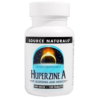 Source Naturals, Huperzin A, 200 ╡g, 120 Tabletten