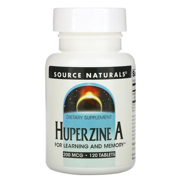Huperzine A, 200 mcg, 120 Tablets