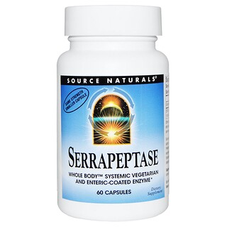 Source Naturals, Serrapeptase, 60 Capsules