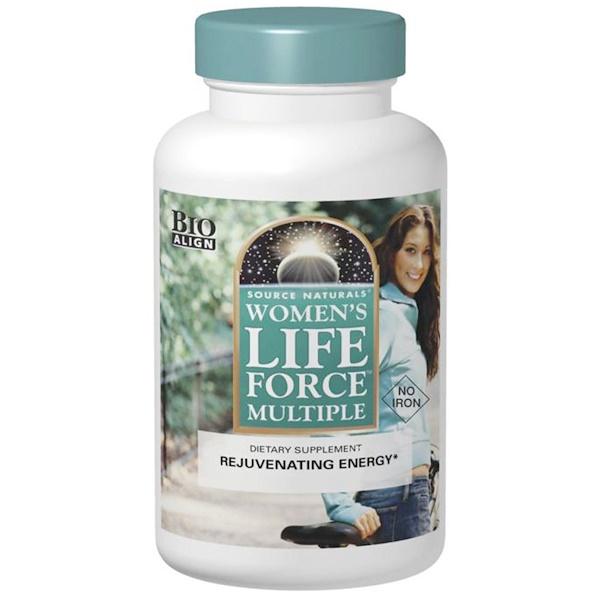 Women's Life Force Multiple, No Iron, 90 Tablets
