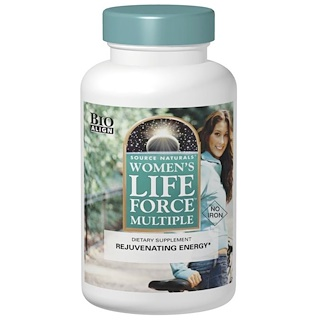 Source Naturals, Women's Life Force Multiple, No Iron, 180 Tablets
