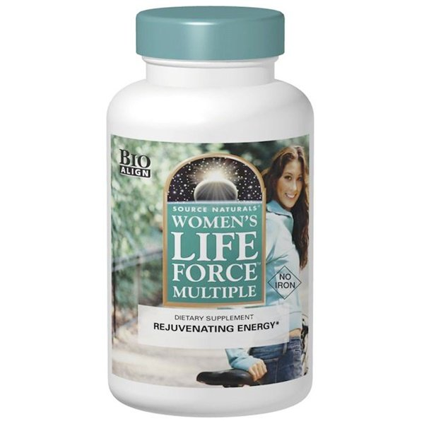 Women's Life Force Multiple, No Iron, 180 Tablets