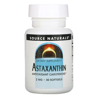 Купить Source Naturals Астаксантин, 2 мг, 30 капсул