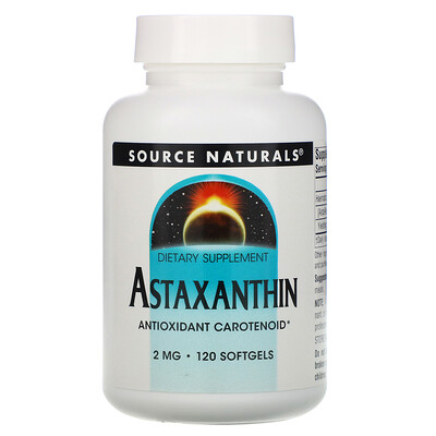 Source Naturals Астаксантин, 2 мг, 120 капсул