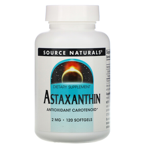 Astaxanthin, 2 mg, 120 Softgels
