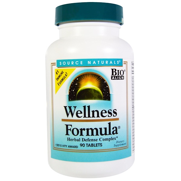 Source Naturals, Wellness Formula, Herbal Defense Complex, 90 Tablets (Discontinued Item)