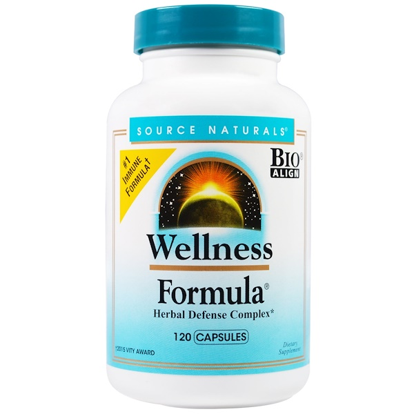 Source Naturals, Wellness Formula, Herbal Defense Complex, 120 Capsules (Discontinued Item)