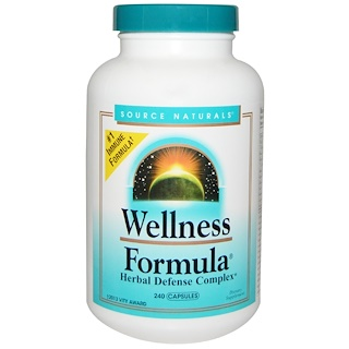 Source Naturals, Wellness Formula, защитный комплекс трав, 240капсул