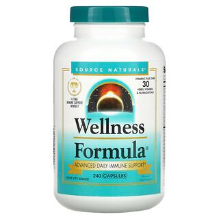 Source Naturals, Wellness Formula, Advanced Daily Immune Support, 240 Capsules