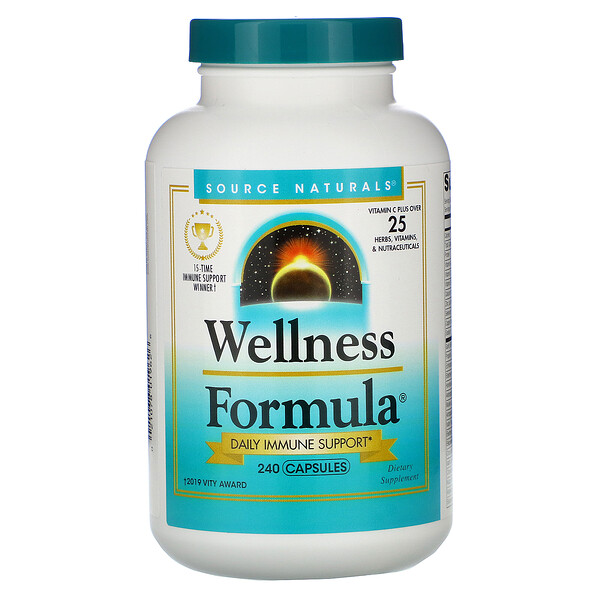 Wellness Formula, Daily Immune Support, 240 Capsules