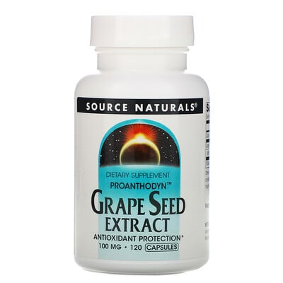 Купить Source Naturals Proanthodyn, Grape Seed Extract, 100 mg, 120 Capsules