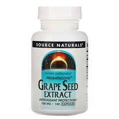 Source Naturals, Proanthodyn,葡萄籽提取物,100 毫克,120 粒膠囊