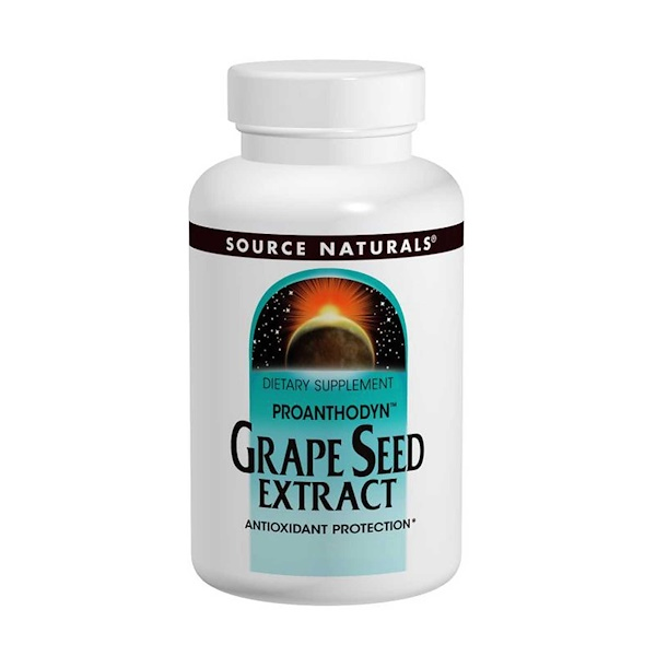 Source Naturals, Grape Seed Extract, Proanthodyn, 100 mg, 120 Capsules