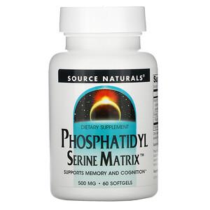 Сорс Начэралс, Phosphatidyl Serine Matrix, 500 mg, 60 Softgels отзывы