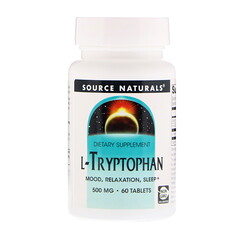 Source Naturals, L-色氨酸,500 微克,60 片