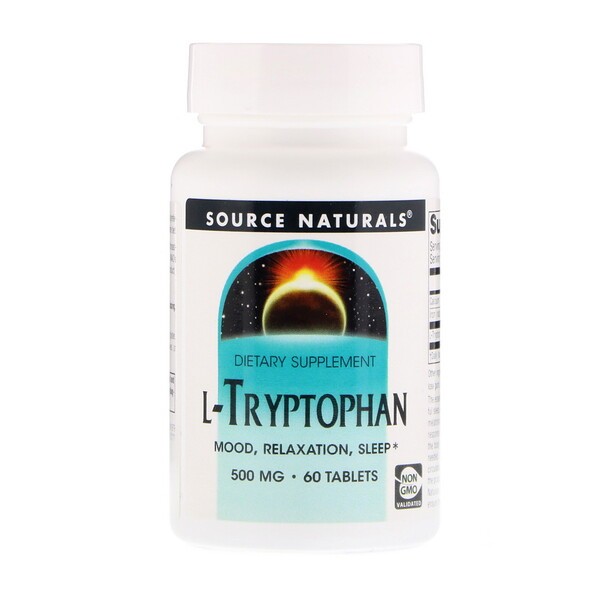 L-Tryptophan, 500 mg, 60 Tablets