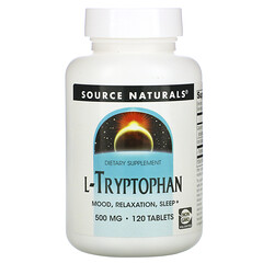 Source Naturals, L-色氨酸,500 毫克,120 片