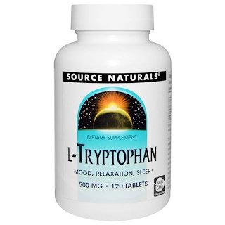 Source Naturals, L-Tryptophan, 500 mg, 120 Tablets