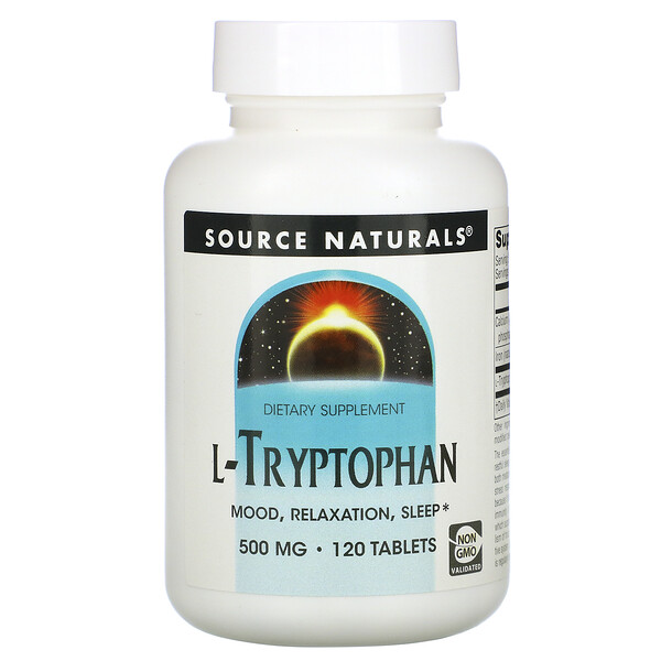 L-Tryptophan, 500 mg, 120 Tablets