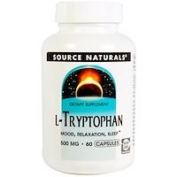 L-триптофан, 500 мг, 60 капсул - фото