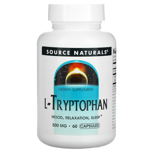 Source Naturals, L-Tryptophan, 500 mg, 60 Capsules