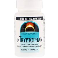 L-триптофан с коэнзимом B-6, 500 мг, 60 таблеток - фото