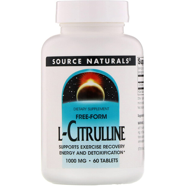 Source Naturals, L-Citrulline, 1000 mg, 60 Tablets