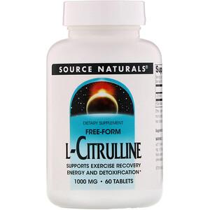 Сорс Начэралс, L-Citrulline, 1000 mg, 60 Tablets отзывы покупателей