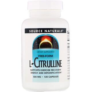 Source Naturals, L-Citrulline, 500 mg, 120 Capsules