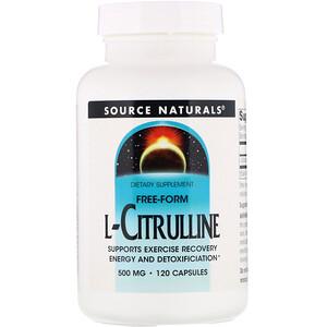 Сорс Начэралс, L-Citrulline, 500 mg, 120 Capsules отзывы покупателей