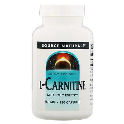 Купить Source Naturals L-карнитин, 250 мг, 120 капсул