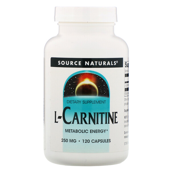 Source Naturals, L-Carnitine, 250 mg, 120 Capsules