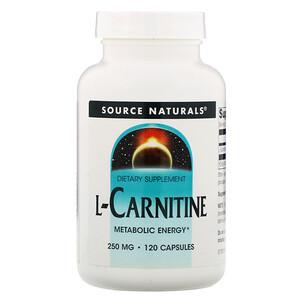 Сорс Начэралс, L-Carnitine, 250 mg, 120 Capsules отзывы покупателей