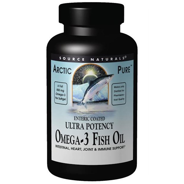 Source Naturals, Arctic Pure, Ultra Potency, Omega-3 Fish Oil, 850 mg, 120 Softgels