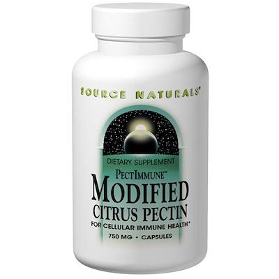 PectImmune, модифицированный цитрусовый пектин, 750 мг, 120 капсул