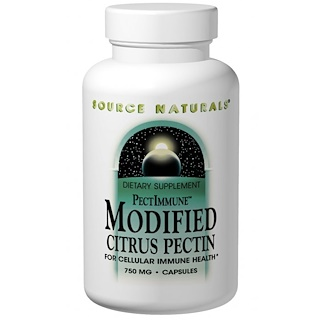 Source Naturals, PectImmune, Pectina de Citrus Modificada, 750 mg, 120 Cápsulas