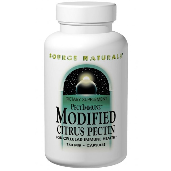 Source Naturals, PectImmune, Modified Citrus Pectin, 750 mg, 120 Capsules