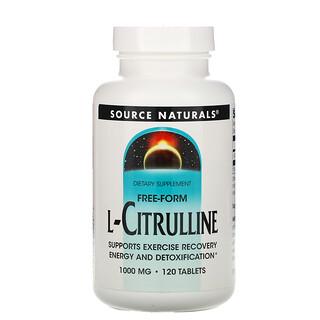 Source Naturals, L-Citrulline, Free-Form, 1,000 mg, 120 Tablets