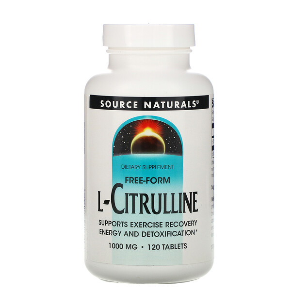 L-Citrulline, Free-Form, 1,000 mg, 120 Tablets