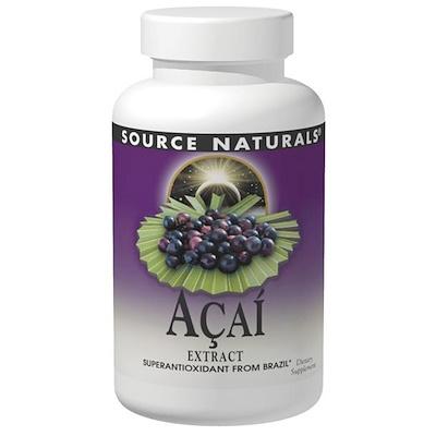 Купить Source Naturals Экстракт ягод асаи, 500 мг, 120 капсул