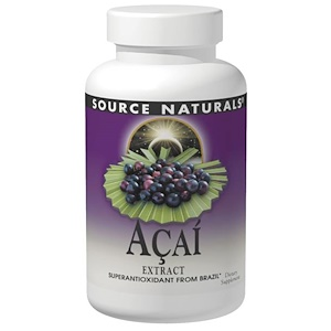 Source Naturals, Экстракт ягод асаи, 500 мг, 120 капсул