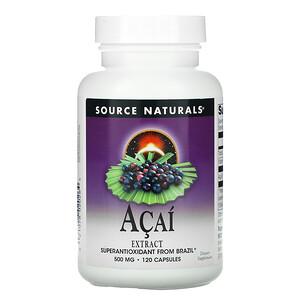 Сорс Начэралс, Acai Extract, 500 mg, 120 Capsules отзывы покупателей