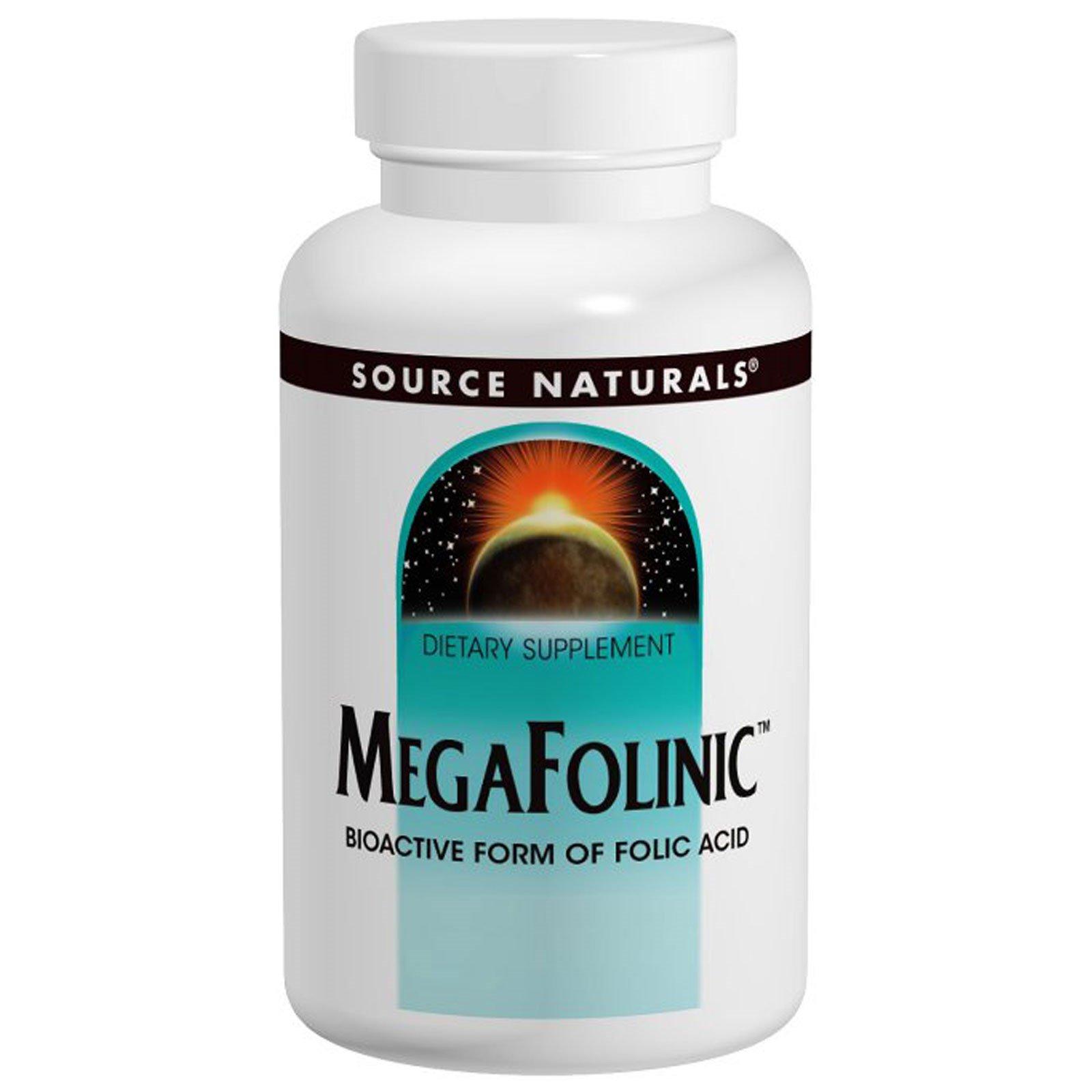 Source Naturals, Фолиевая кислота MegaFolinic, 800 мкг, 120 таблеток