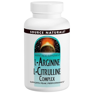 Source Naturals, L-Arginin-L-Citrullin-Komplex, 1.000 mg, 120 Tabletten