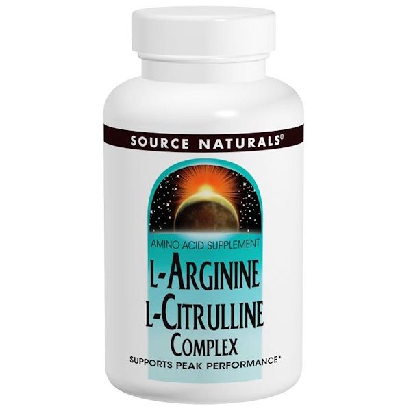 Source Naturals, L-Arginine L-Citrulline Complex, 1,000 mg, 240 Tablets