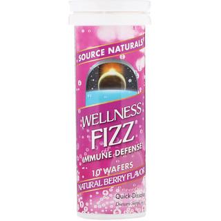 Source Naturals, Wellness Fizz, Natural Berry Flavor, 10 Wafers