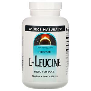 Сорс Начэралс, L-Leucine, 500 mg, 240 Capsules отзывы покупателей