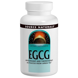 Source Naturals, EGCG, 350 mg, 60 pastillas