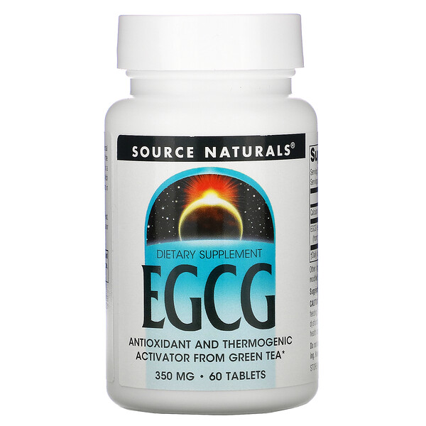 Source Naturals, EGCG, 350 mg, 60 Tablets