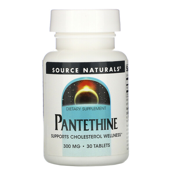 Source Naturals, Pantethine, 300 mg, 30 Tablets